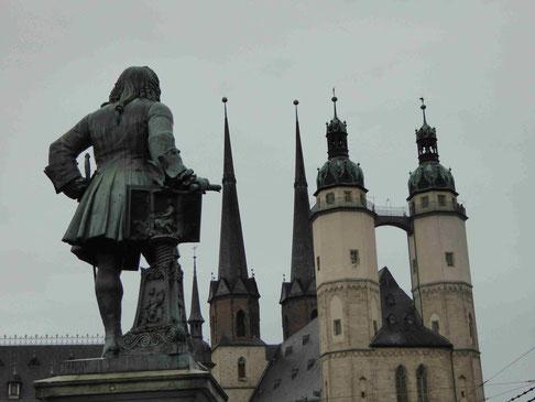 Händel und Marktplatz mit dem Tele, Foto: Weil