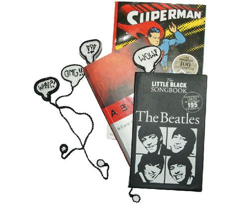 Cómo tejer expresiones de comic como marcador de libros (crochet comic bookmark)