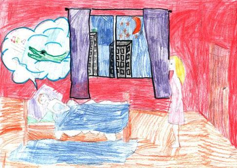 """Николай Рубцов. """"После посещения зоопарка"""". Рисовала Анастасия Б., 1а класс"""