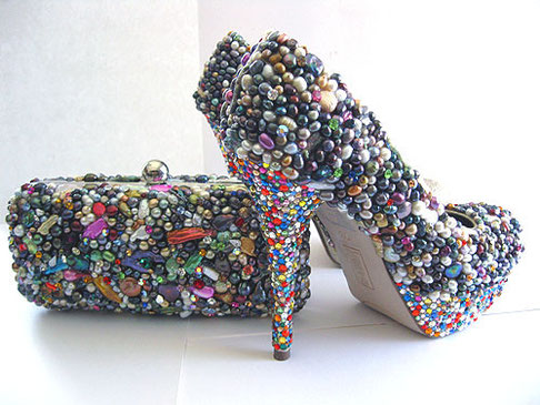 Pearl Shoes & clutch