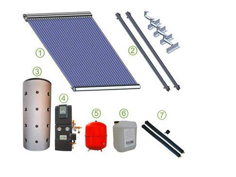 Solaranlage zur Warmwasseraufbereitung