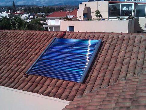 Einfamilienhaus in Limassol, Zypern, 4,87 m² Kollektorfläche, Warmwasserbereitung