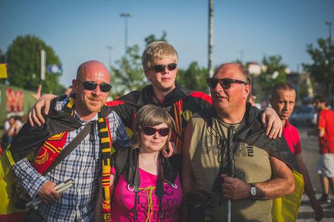 Photo des 4 supporteurs suivis dans le documentaire