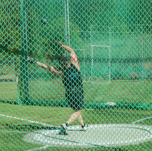 20,35 m beim Gewichtwurf (12,50 kg!) können sich sehen lassen!