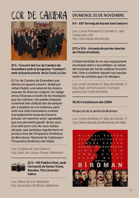 Programa de las Festes de Tardor de Montornès del Vallès
