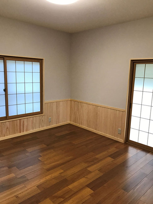和室を洋室に改修