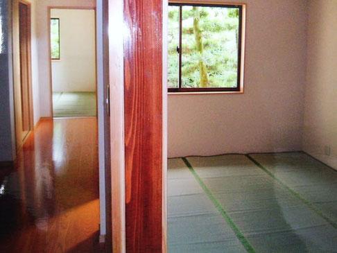 廊下と居間の改修