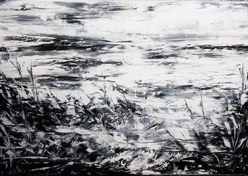 Strandgut - Öl auf Leinwand - 60 x 70