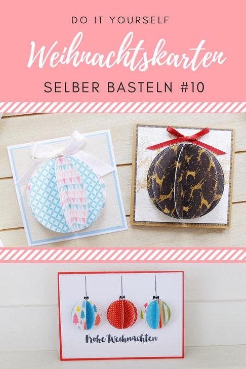 DIY Weihnachtskarten selber basteln Tutorial Anleitung - Weihnachtsstern