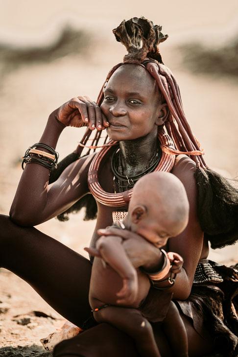 faces of namibia himba women epupa falls
