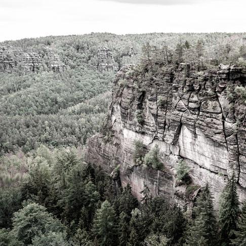 kleiner winterberg elbe sandstone mountains saxony germany