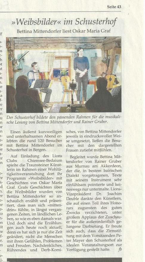 Traunsteiner Tagblatt 01.04.2017