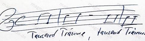 Tausend Träume Udo Jürgens eigenhändig Noten