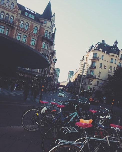 stockholm capitale ville rue vélo bus