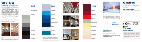 Bild CILING-Farbkarte glänzende Decken