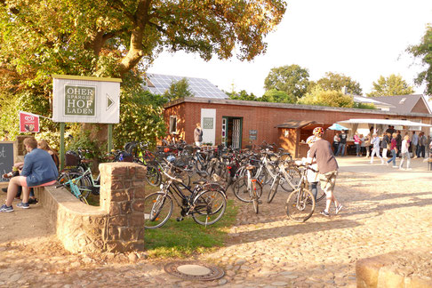 Radtour Ohe Hofladen Ebike Kaffegarten Kaffee Kuchen
