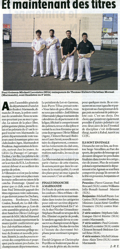 Le Petit Bleu mars 2010