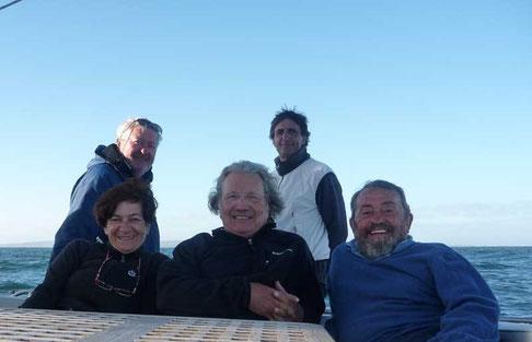 moment magique à la pointe des Aiguilles lieu de rencontre de l'océan Atlantique et de l'océan Indien