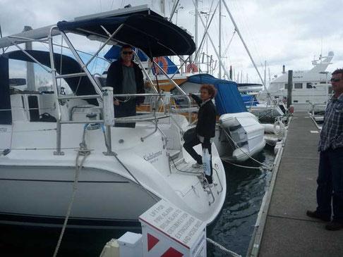 nos amis sur leur bateau Kadalamma