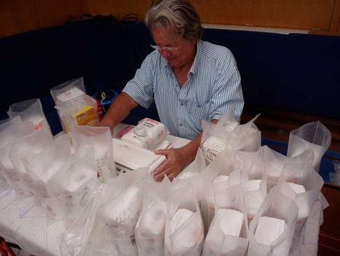 emballage sous vide de la farine