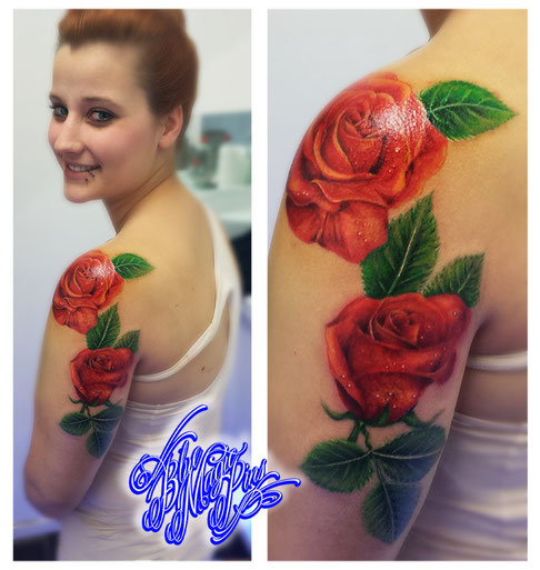 Blue Magic Pins roses tattoo Genk Belgium