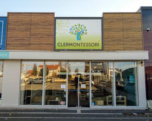 Clermontessori entrée de la boutique et des formations Montessori