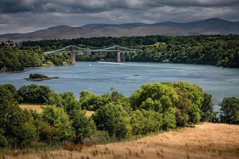 Fotoreise nach Snowdonia und zur Halbinsel Anglesey, Menai-Brücke, Snowdonia, Anglesey
