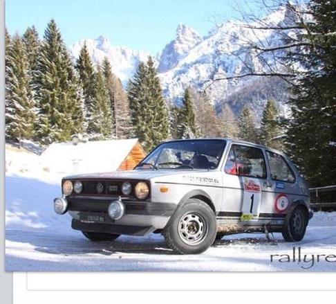 SENNA in azione al vittorio Rally Snow di S.Martino di Castrozza - Gen 2015