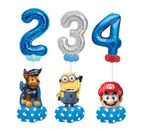 Luftballon Ballon Heliumballon Folienballon Ballongeschenk Ballongruß Bouquet Lizenz Geburtstag Kindergeburtstag Deko Dekoration Paw Patrol Chase Minion Minions Super Mario XXL Zahl Geburtstagszahl Junge Mädchen 1 2 3 4 5 6 7 8 9 0