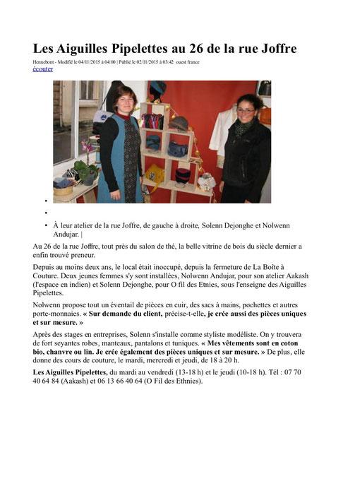 Les aiguilles Pipelettes-Hennebont-56-atelier de confection