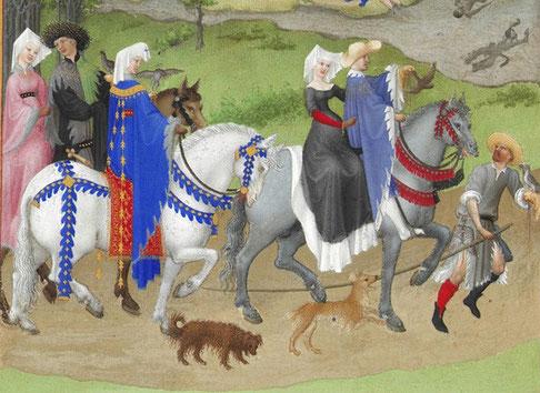 Les Très Riches Heures du duc de Berry (Monatsbild August)