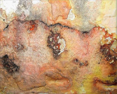 Die Natur als Künstlerin - Schimmel an einer Badezimmerwand