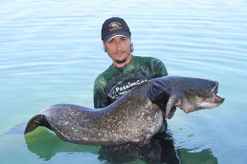 record pêche silure du domaine privé