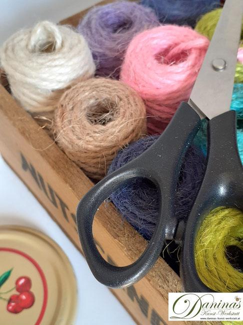 Nachhaltigkeit - Aus Twist Off Deckel einen maritimen Aufhänger mit Anker basteln