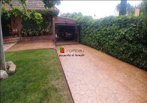 Hormig n impreso y pavimentos cemento precios m2 madrid for Hormigon impreso precio m2 leon