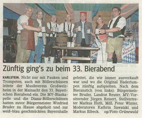 Bayerischer Bierabend 2009, Main-Echo v. 04.05.2009