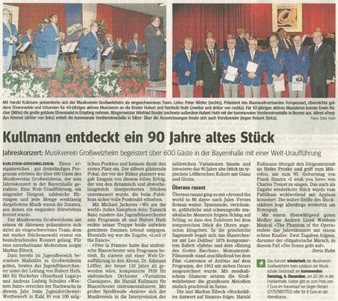 Jahreskonzert 2010, Main-Echo v. 29.11.2010