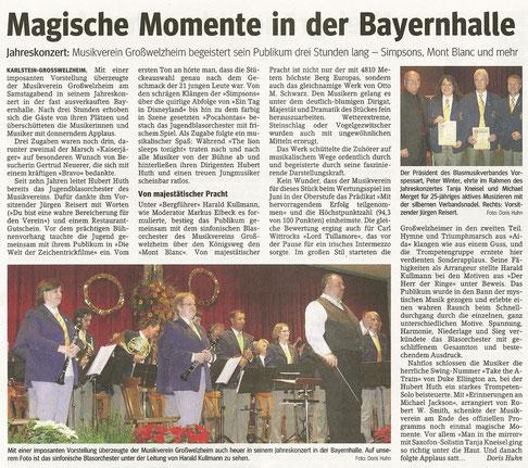 Jahreskonzert 2009, Main-Echo v. 01.12.2009