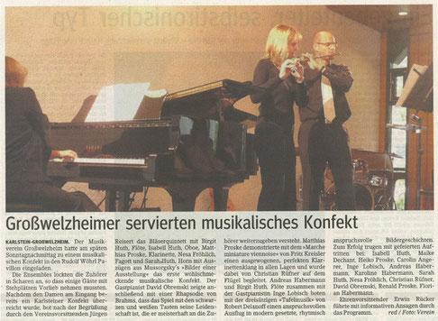 Musikalisches Konfekt 2009, Main-Echo v. 09.10.2009