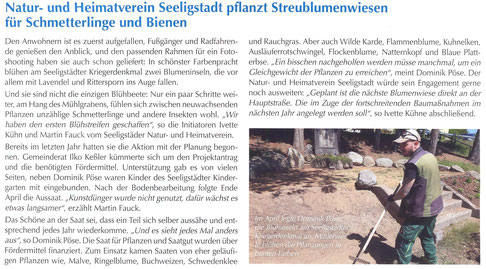 Bild: Seeligstadt Chronik 2020