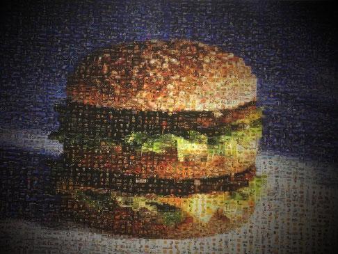 Bild einrahmen Bern - doppel burger mcdonalds