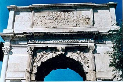 Titus -Bogen, Durchgang zum Forum Romanum