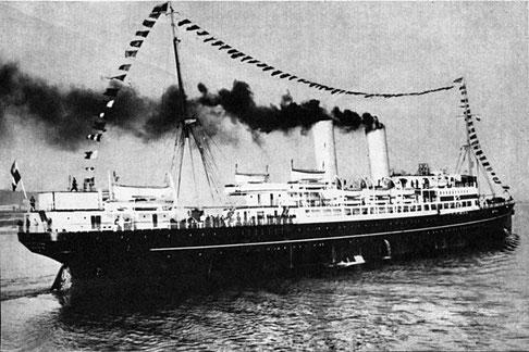 La Thaddeus Kosciuszko con la quale il 173rd sbarcò a Napoli.