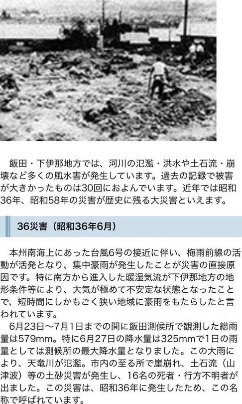 飯田市の豪雨災害の状況(飯田市公式サイトより)