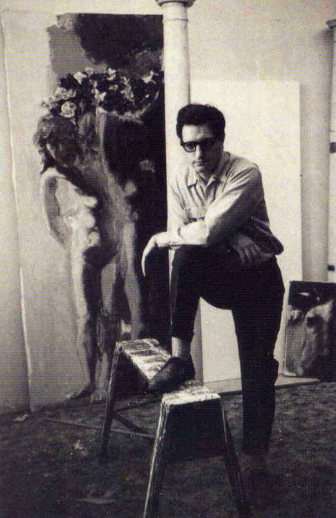 1964, ; Lyn Ott in his Woodstock NY studio.