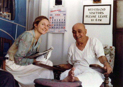 Susan with Pendu Irani at Meherazad, India