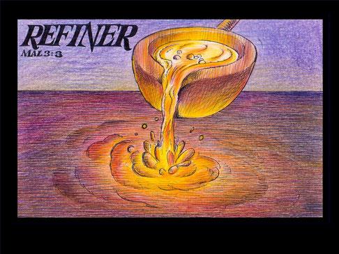 Les yeux de Jésus sont comme une flamme de feu, perspicaces et purificateurs. Ils discernent tous les défauts de chacun, mais il propose un enseignement profond menant à la compréhension et au repentir sincère. Il propose de purifier les âmes pour Dieu.