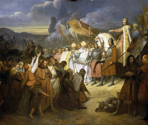 Il a fallu 33 longues années de guerre acharnée pour venir à bout des Saxons aussi irréductibles face à l'épée qu'à l'appel de l'Évangile et dont la soumission a été difficile et très violente. La prophétie de Daniel 11 :7 s'accomplit !