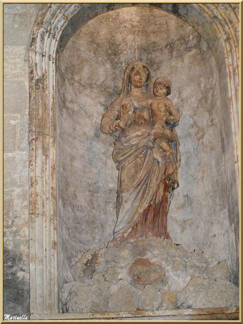 Statue Vierge à l'enfant, autel de la Vierge, église Saint-Vincent, Les Baux-de-Provence, Alpilles (13)