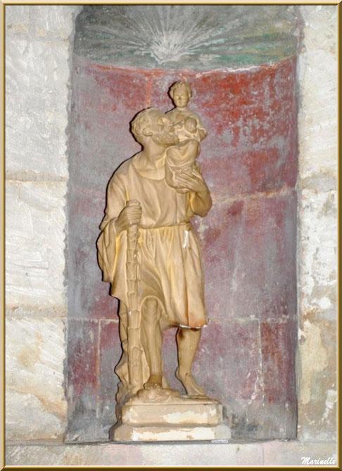 Statue de Saint-Joseph à l'enfant Jésus, autel de la Vierge, église Saint-Vincent, Les Baux-de-Provence, Alpilles (13)